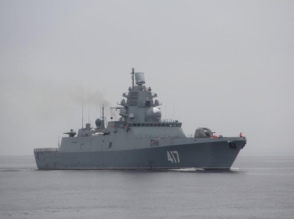 Almirante Gorshkov executa testes de mar
