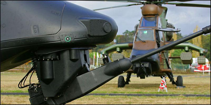 Os Tiger HAP, HAD e ARH possuem armamento orgânico na forma de um potente canhão automático GIAT-30M-781 em calibre 30 X 113 mm capaz de impor pesados estragos a viaturas inimigas.