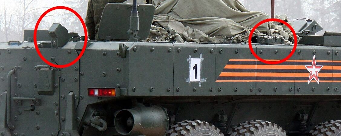 Novas imagens do APC Boomerang exibem sensores do sistema de auto defesa ARENA?