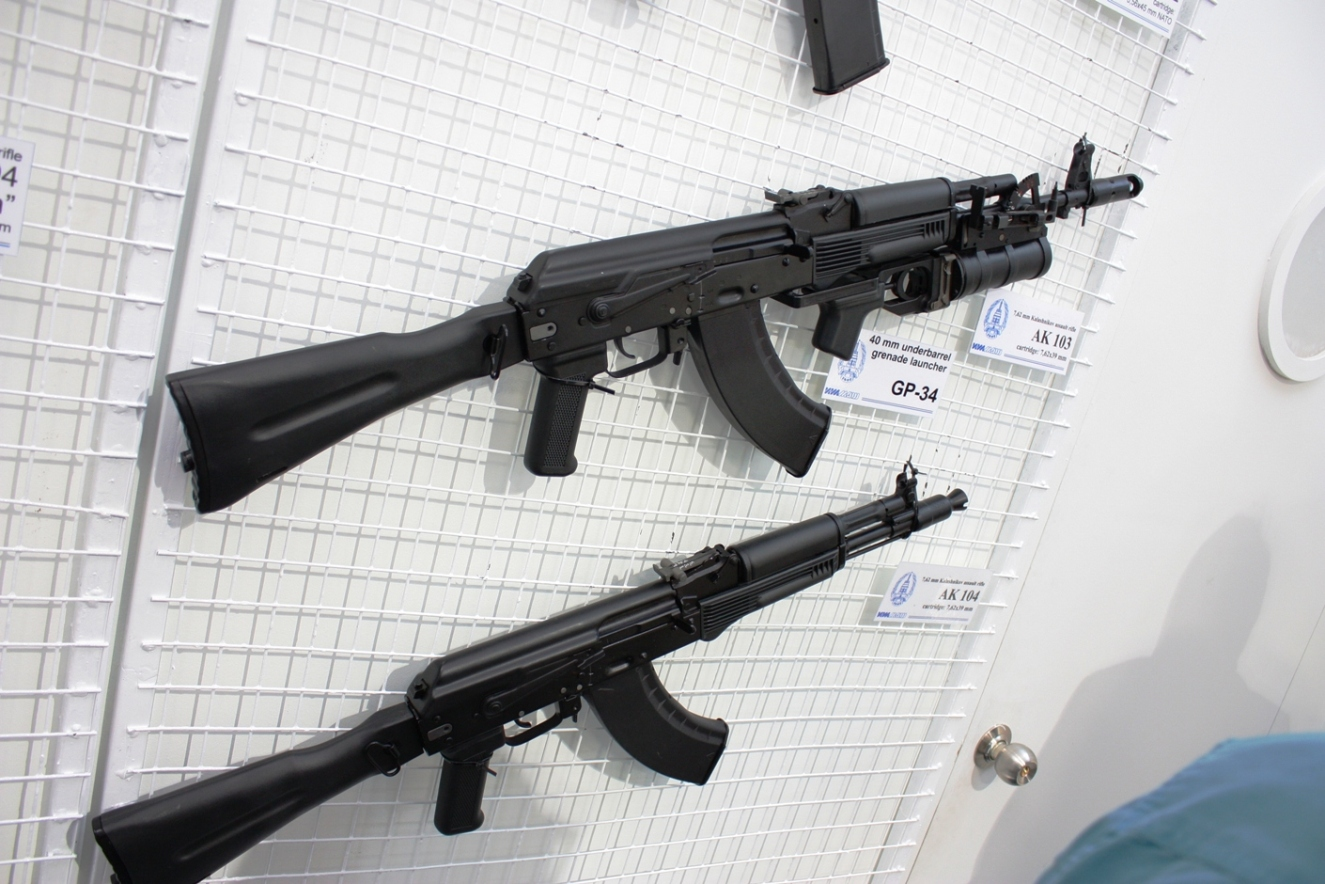 Izhmash_Rifles_-_AK-103_with_GP-34_Grenade_Launcher_and_AK-104