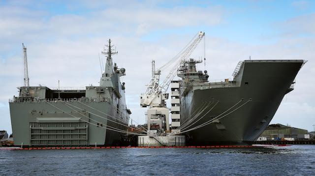 Austrália: Segundo LHD inicia testes de Mar