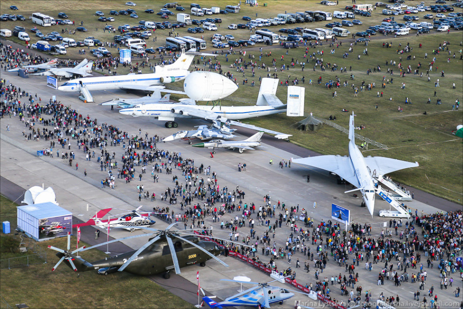 Aerial view of Russian MAKS-2015 air show 9