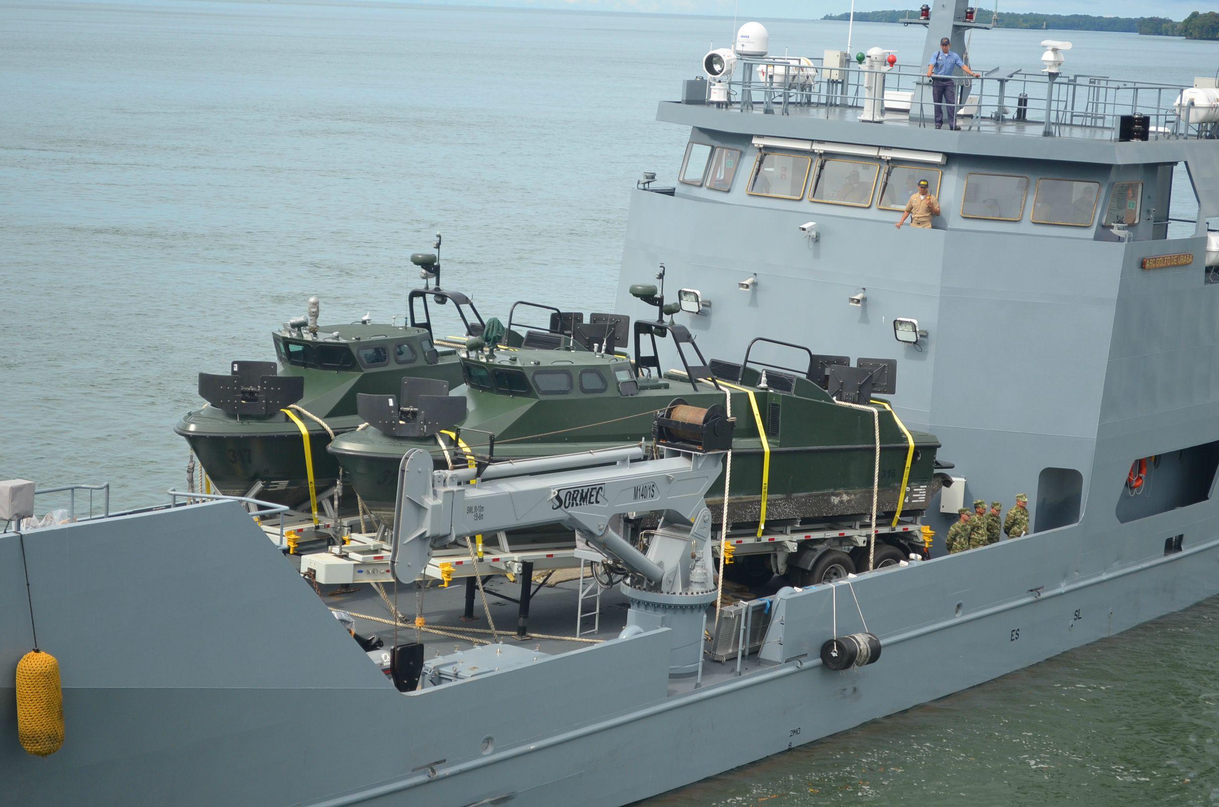 Marinha Colombiana Recebe mais duas lanchas LPR-40 MK-II