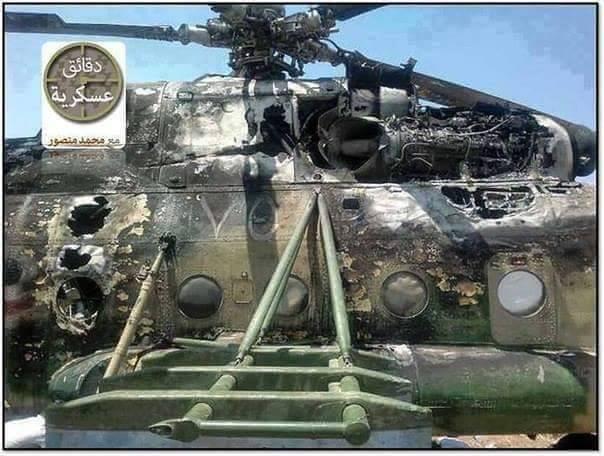 Helicóptero Sírio atingido por Míssil retorna a base: Guerra Síria na era dos MANPADS?