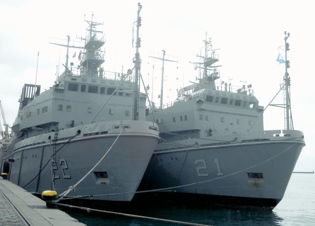 Salvador recebe os avisos que a Marinha Argentina comprou na Rússia para patrulhar os mares austrais