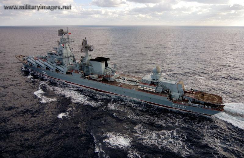 SLAVA Guided_Missile_Cruiser_Moskva_-_Project_1164_Slava_class