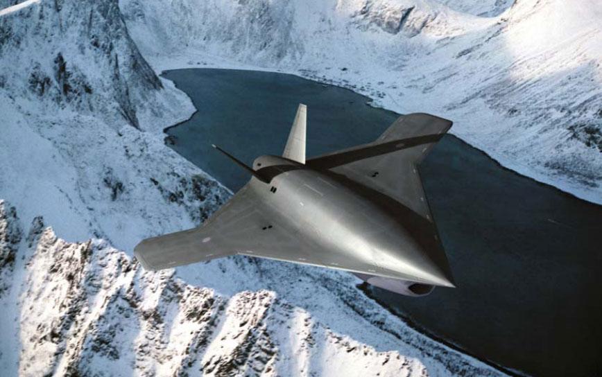 Concepção artística do UCAV Taranis da BAE Systems