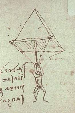 Paraquedas de Leonardo da Vinci