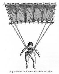 O paraquedas de Fausto Veranzio