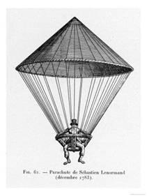 O paraquedas de Louis-Sébastien Lenormand