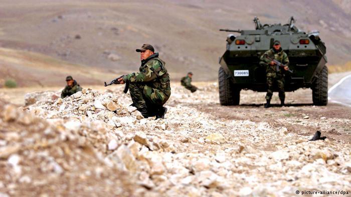 Soldados turcos na região curda do Iraque