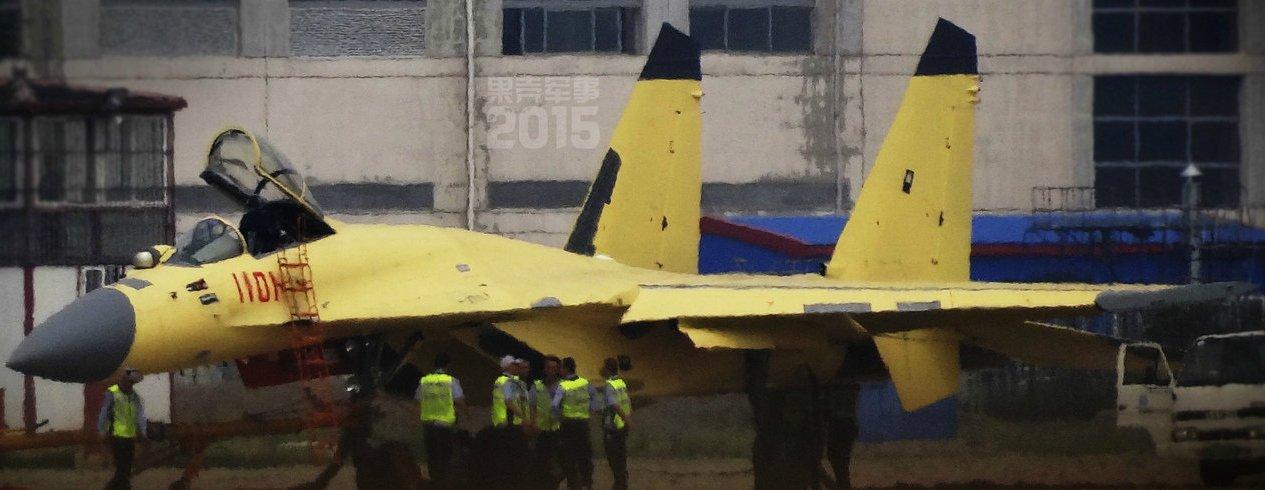 Protótipo do caça J-11D testa radar AESA
