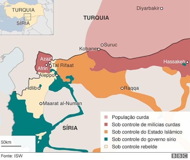 Entenda a 'mini guerra mundial' que ocorre na Síria