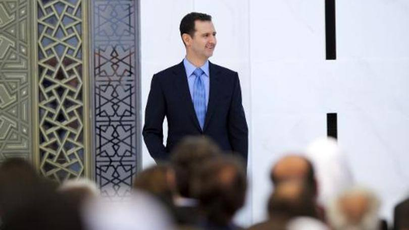 """O presidente sírio, Bashar al-Assad: """"Se o povo sírio quiser que eu esteja no poder, então estarei, e se não quiser, então não estarei"""", disse Assad"""
