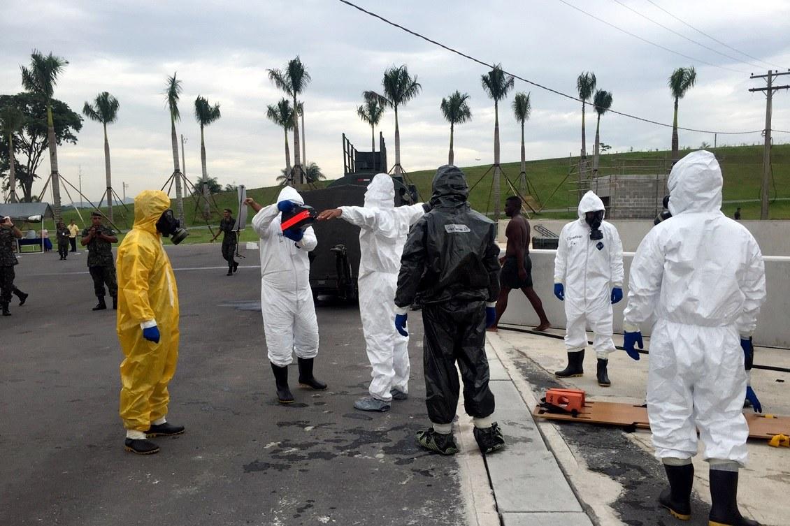 Simulado de ataque com agente químico mobiliza forças de segurança