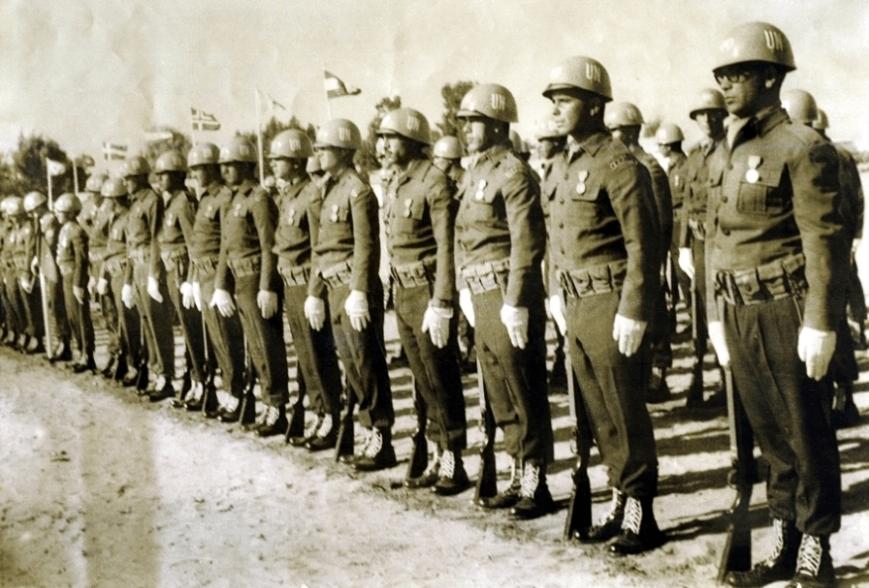 Soldados do 13º contingente brasileiro do Batalhão de Suez.