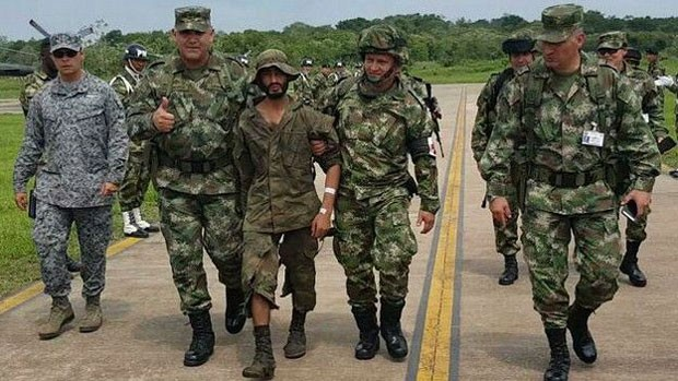 Soldado foi encontrado na segunda-feira (Foto: Ejercito de Colombia)
