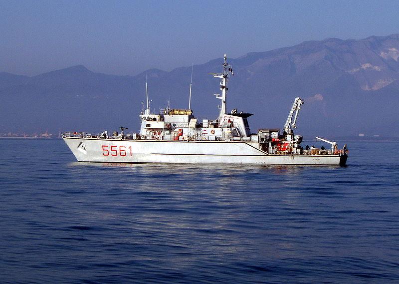 Os caça-minas classe Lerici são unidades modernas, construído a partir dos anos oitenta para a marinha italiana .