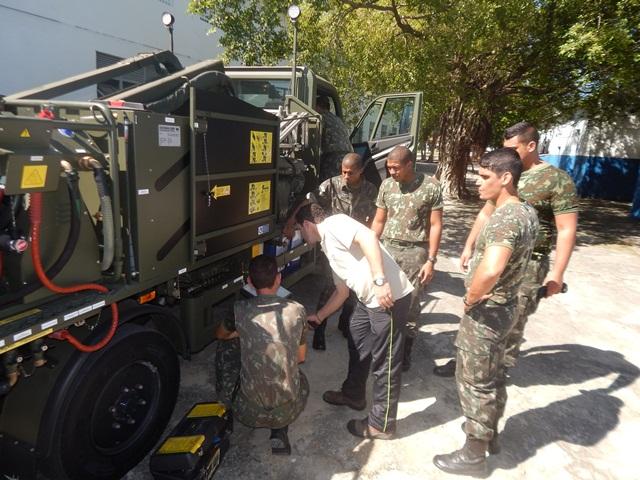 1° Batalhão de Defesa Química, Biológica, Radiológica e Nuclear – Estágio de Capacitação em Equipamentos de Descontaminação