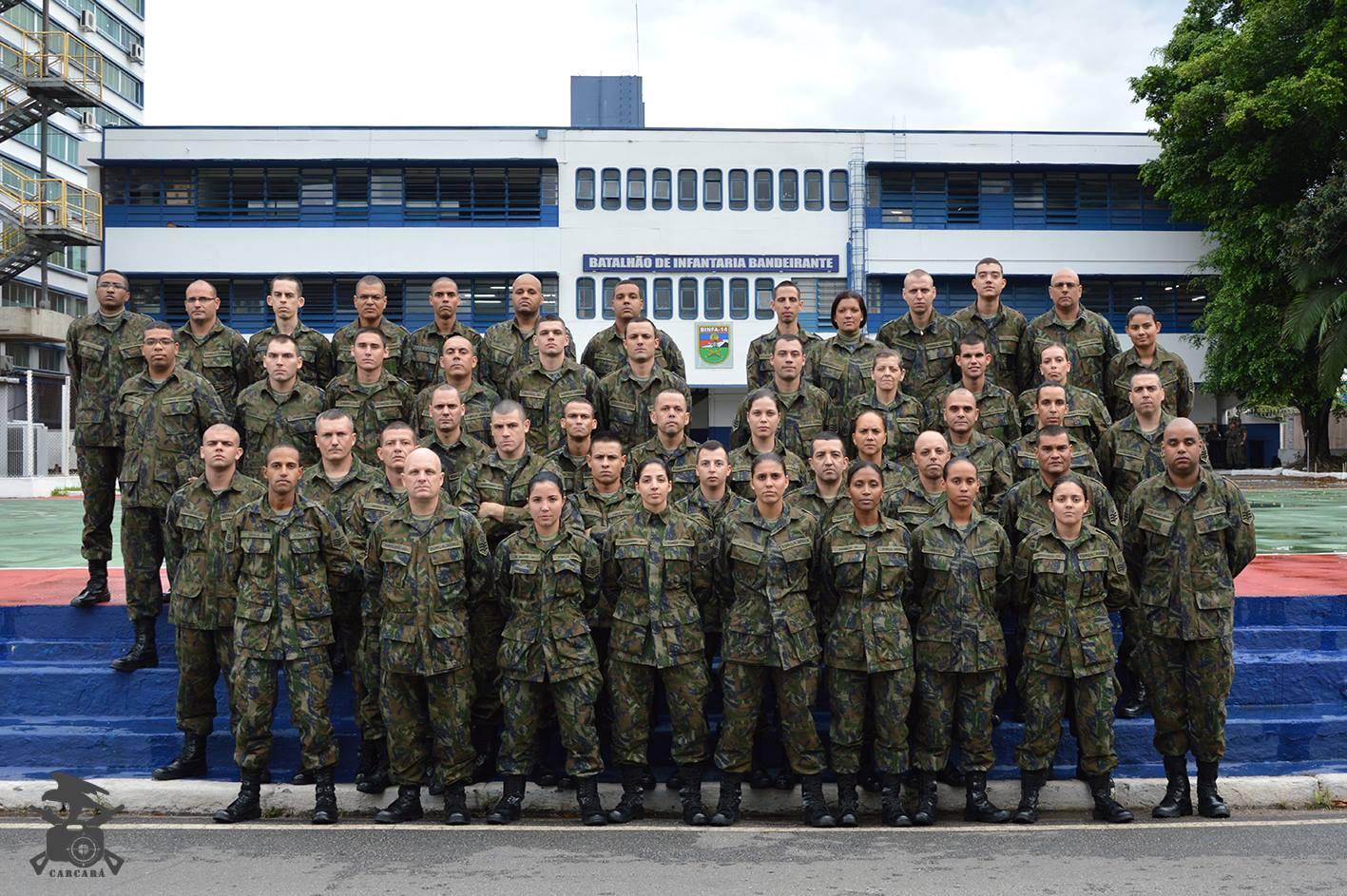 FAB PÉ DE POEIRA: BINFA-14 (BATALHÃO BANDEIRANTE) ministra instrução para o Estágio de Adaptação de Praças do Quadro de Sargentos convocados.