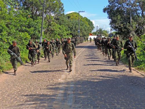 Militares realizaram marcha administrativa de 12 km