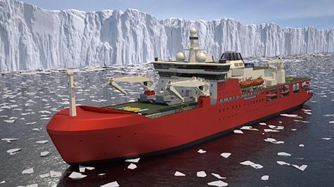 Austrália encomenda navio logístico quebragelos