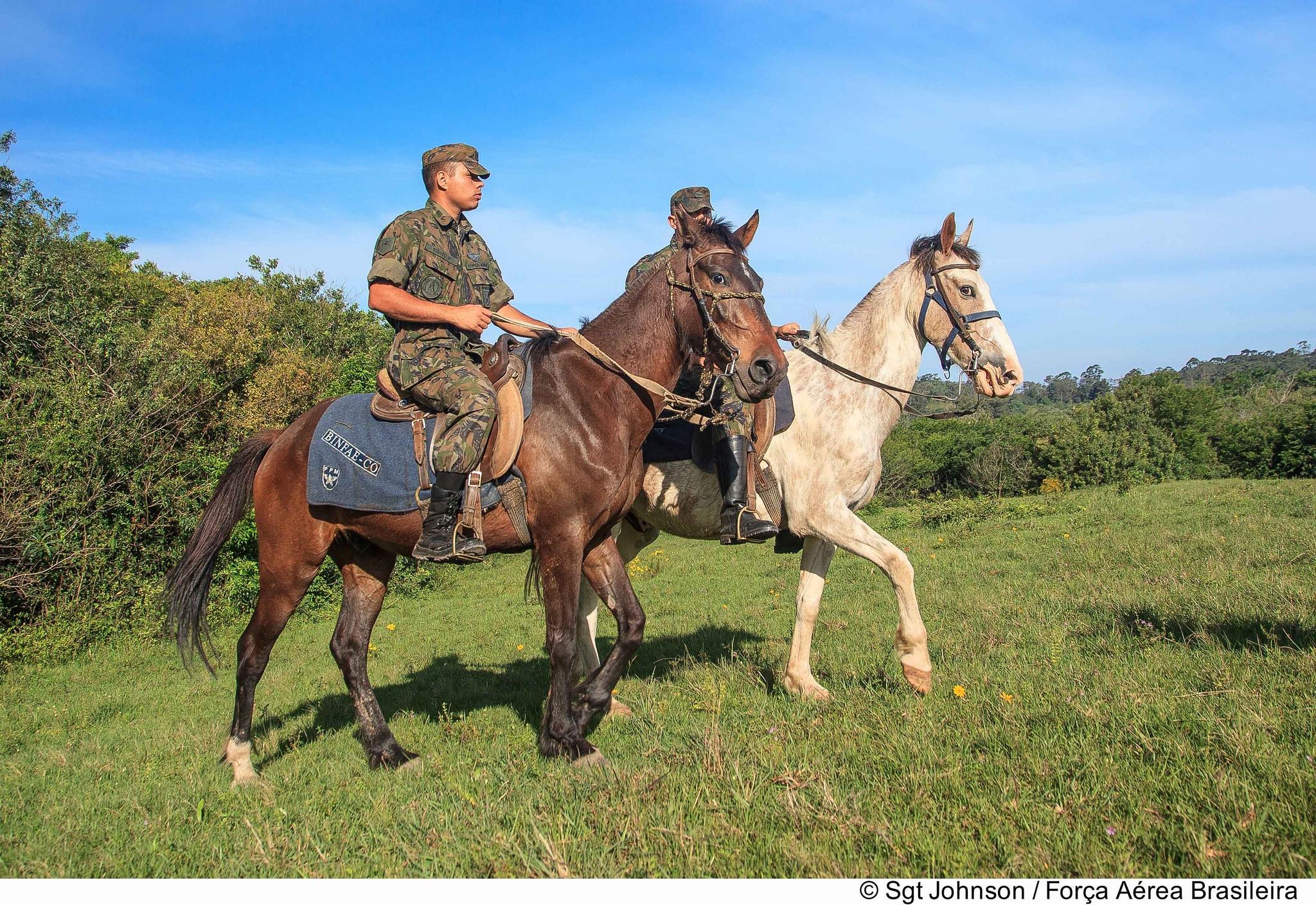 FAB PÉ DE POEIRA:  BINFAE-CO utiliza Cavalos para Patrulhamento.