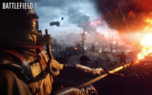 Lança-chamas é uma das armas de 'Battlefield 1' (Foto: Divulgação/EA)