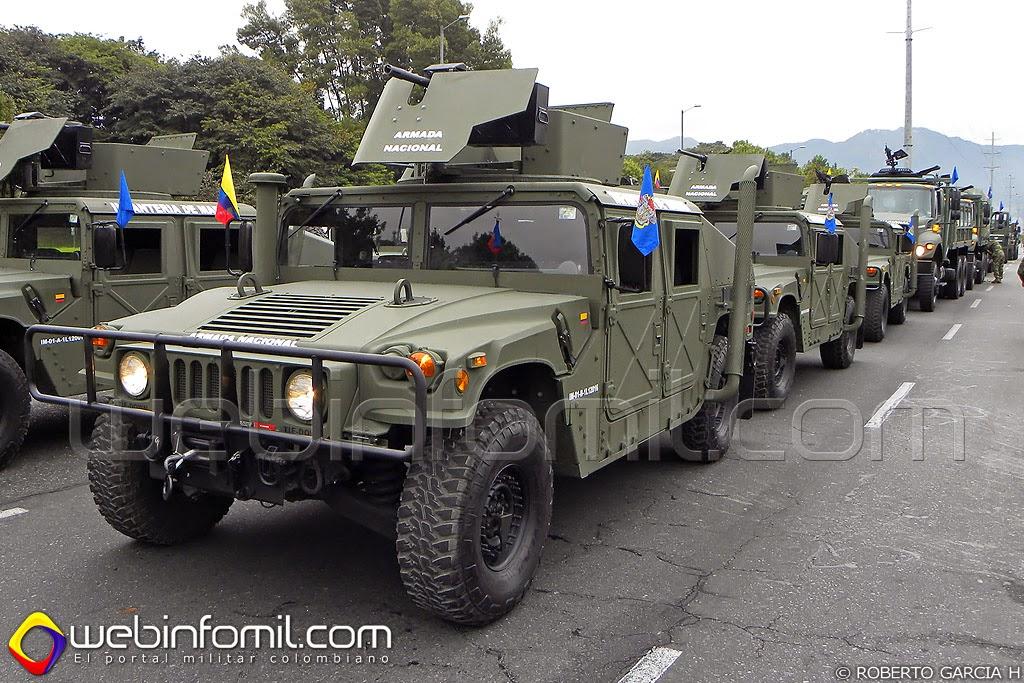 humvee infantería de marina colombia