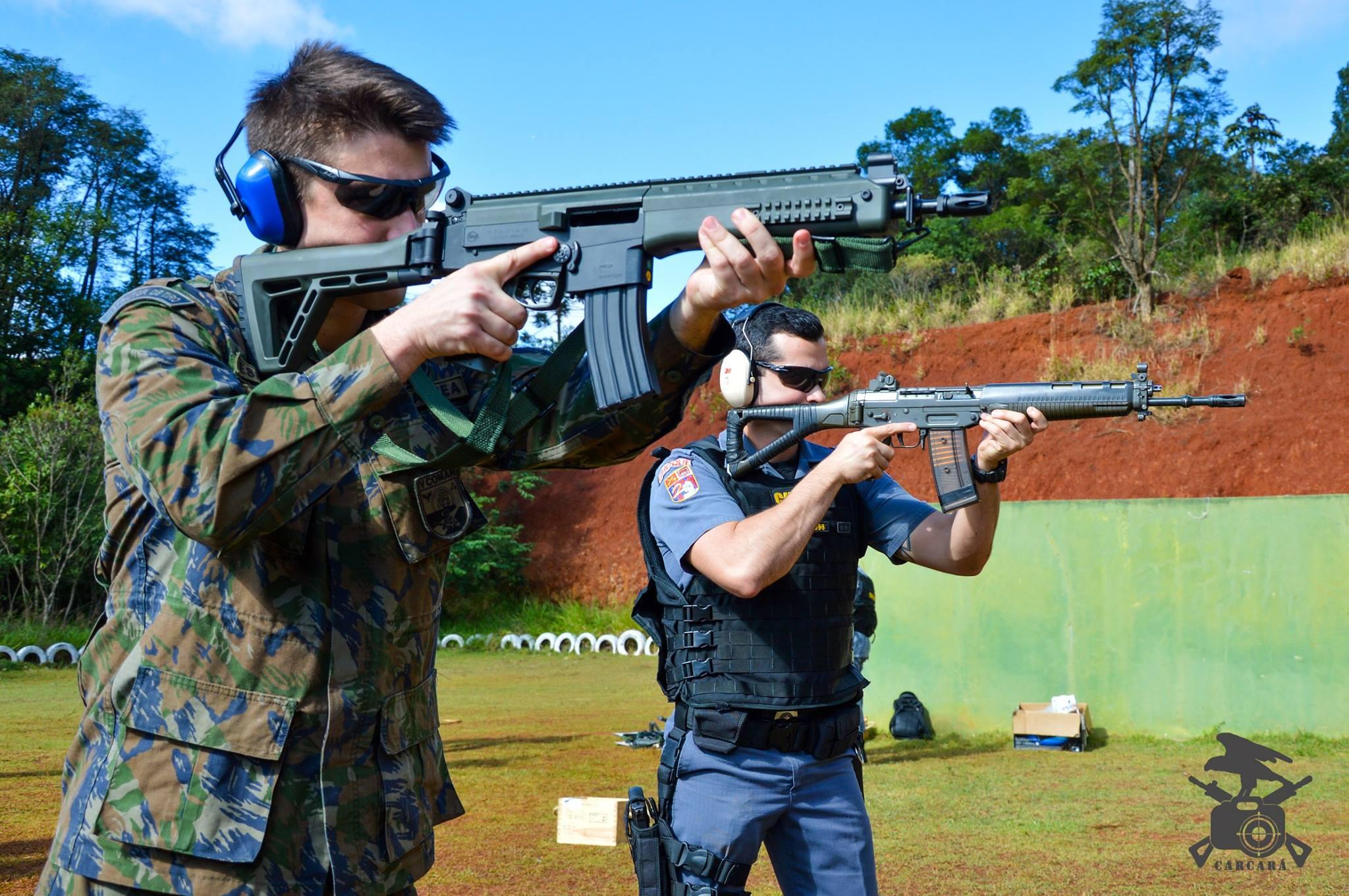 FAB PÉ DE POEIRA: Militares do Batalhão Bandeirante (BINFA-14) realizam Intercambio com a PMESP