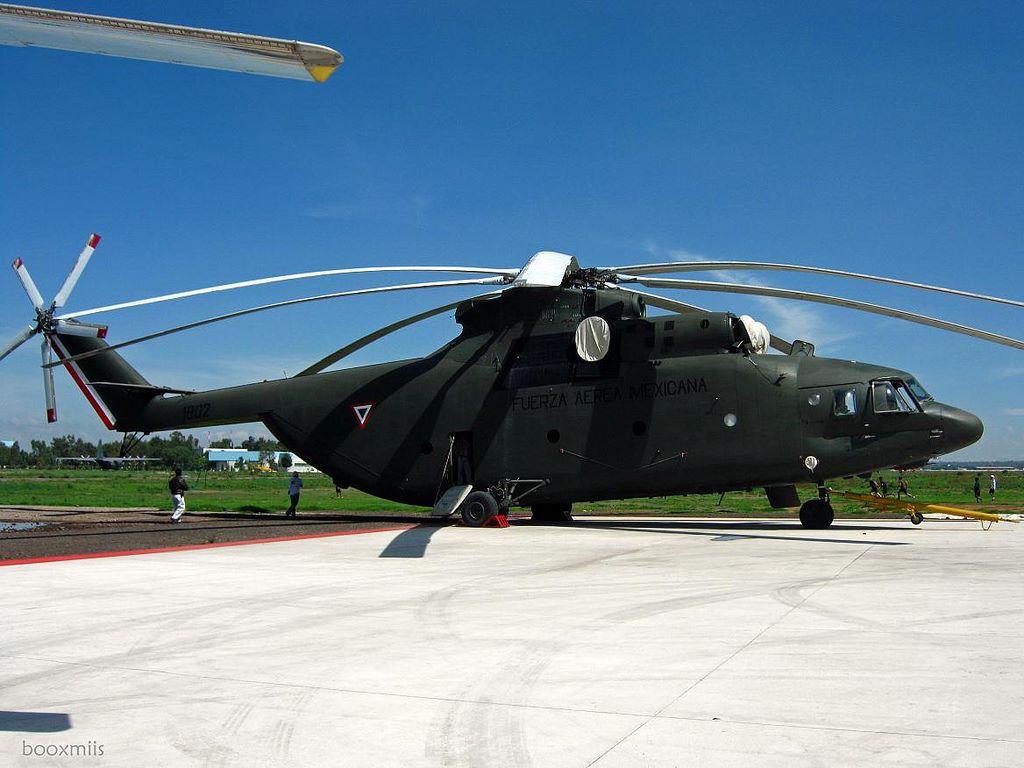 Mil Mi-26T da Força Aérea Mexicana Foto: Picssr