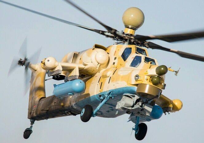 Mil Mi-28NE da Força Aérea Argelina Foto: Pininterest