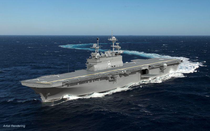 A Huntington Ingalls Industries  foi selecionada para construir o próximo Navio de Assalto Anfíbio Multi propósito da Marinha os EUA
