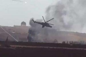 Vídeo: Helicóptero de ataque Mil Mi-35M Hind Russo é abatido na Síria