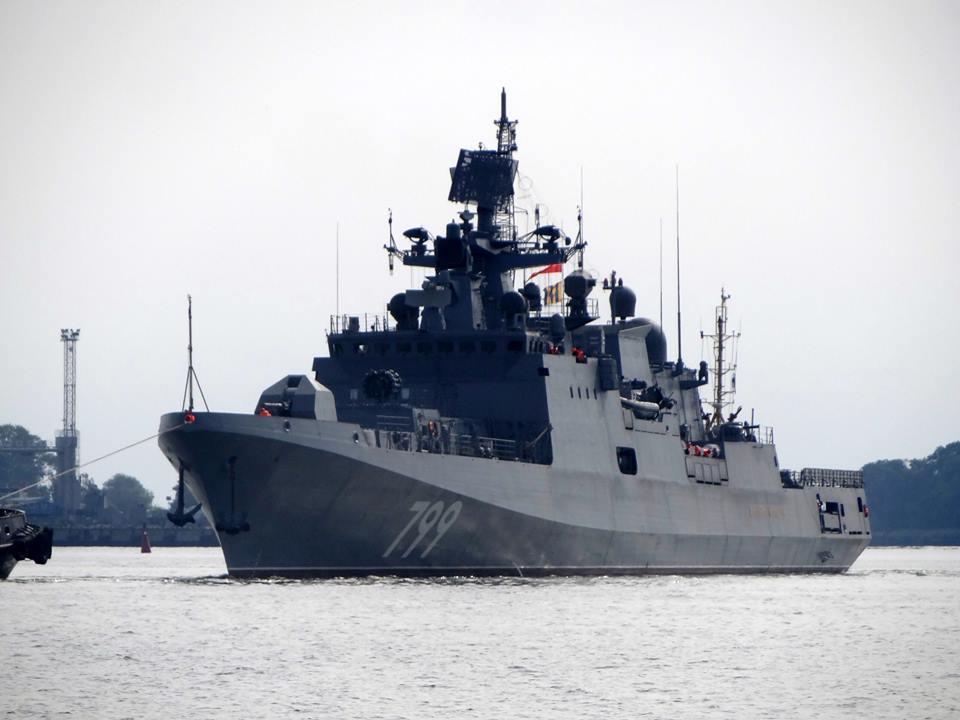 Almirante Makarov é flagrada pela primeira vez durante os testes de Mar