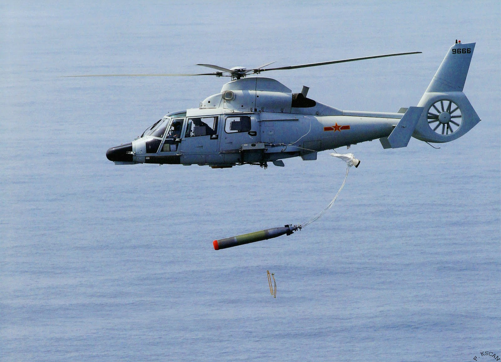 Harbin helicopter. Z-9EC ASW Naval Air Arm pulse-compression radar, low frequency dipping sonar, radar warning receiver and doppler navigation system, torpedoes frigates (2)