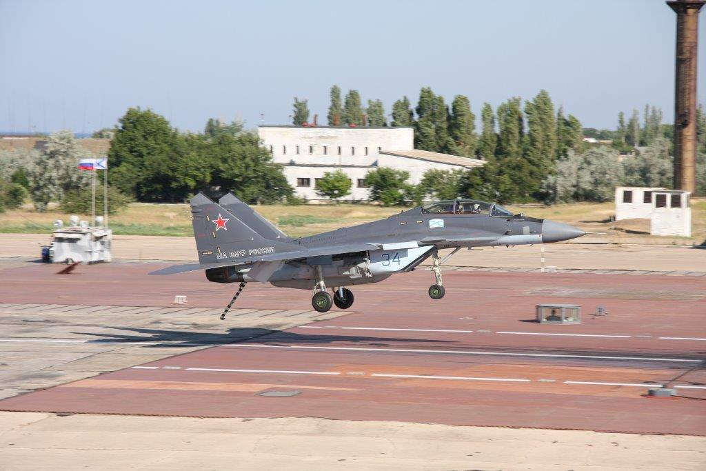 Caças navais MiG- 29KR / KUBR em Saky (Crimeia -Rússia )