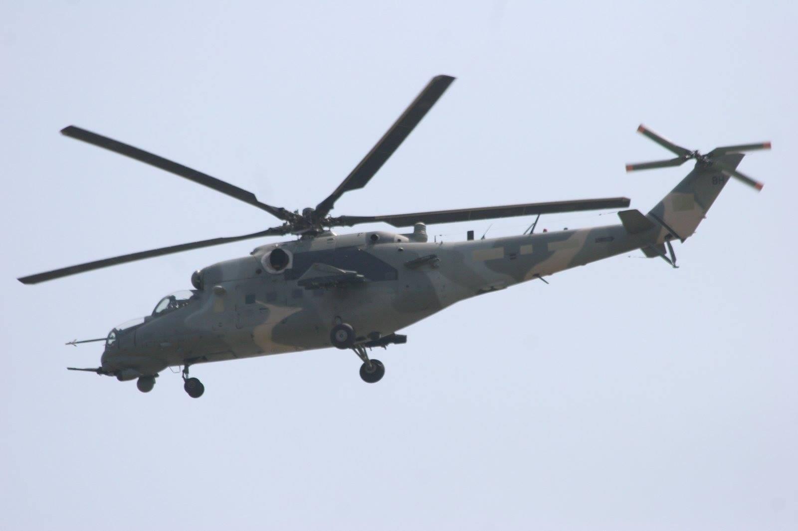 Voa na Rússia a aeronave Mi 35M2 da Aviação do Exército Venezuelano