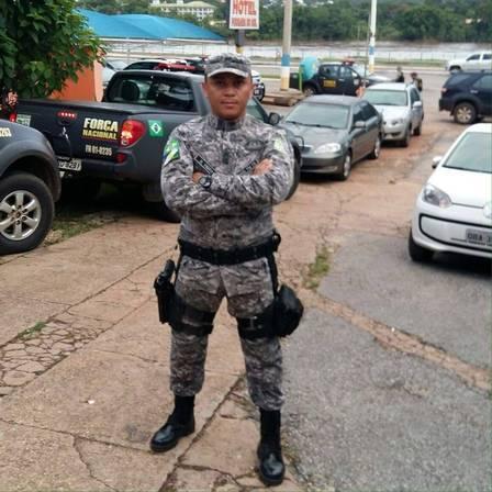 O soldado Hélio foi atingido na cabeça Foto: Reprodução