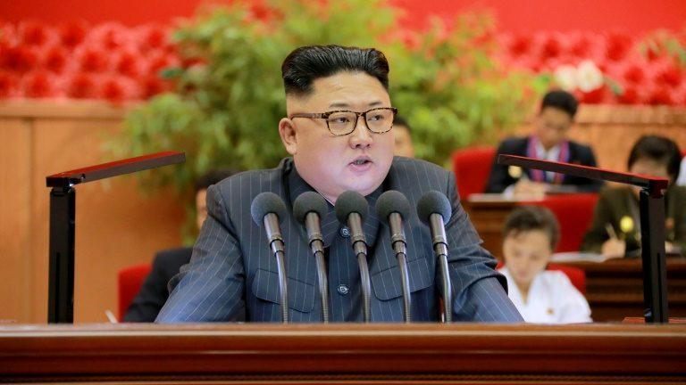 líder norte-coreano, Kim Jong-Un, em Pyongyang, no dia 29 de agosto de 2016 - KCNA/AFP