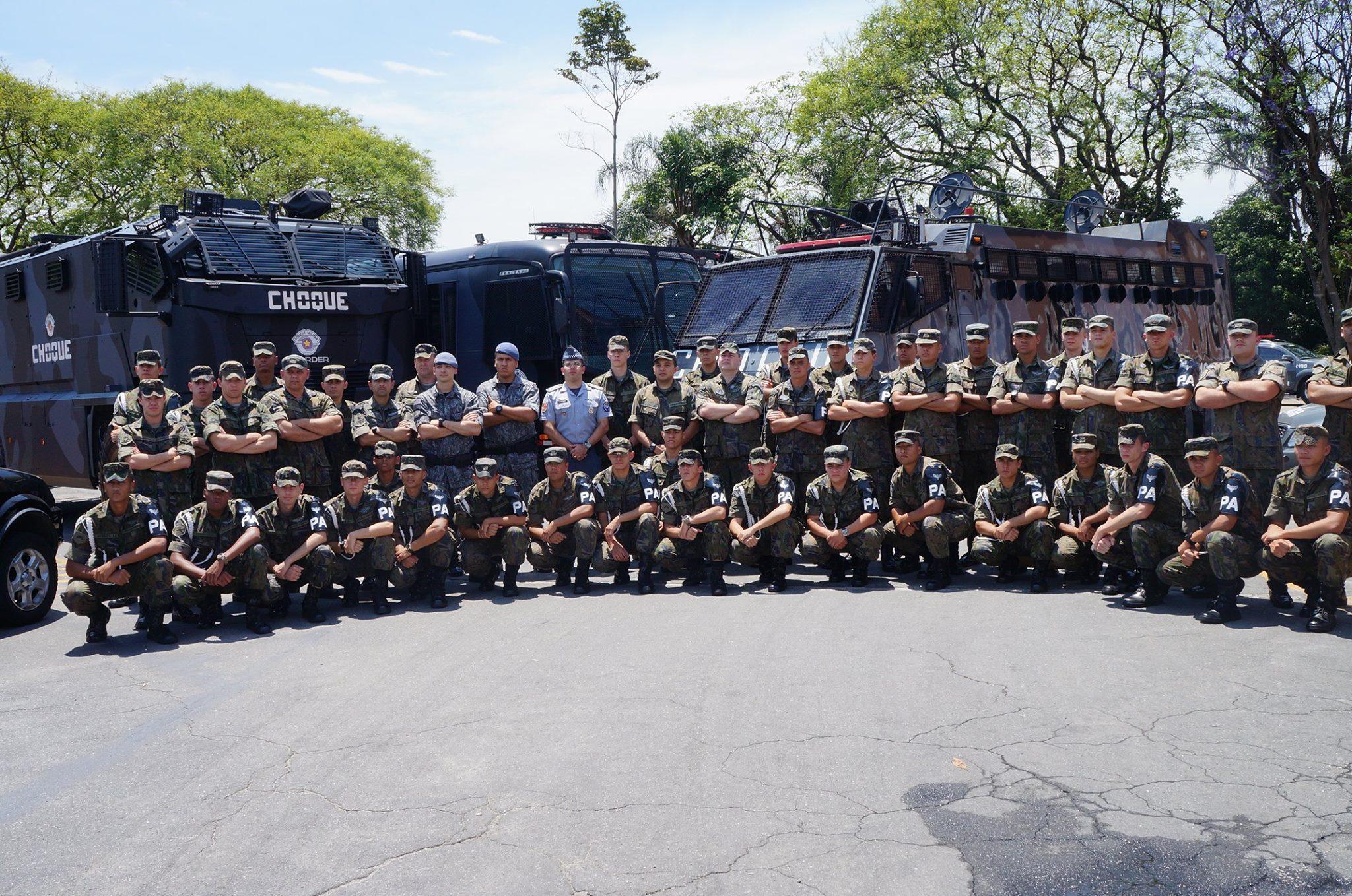 FAB PÉ DE POEIRA: BINFA-14 Batalhão Bandeirante realiza Intercambio  com o 2º BPChq da Polícia Militar do Estado de São Paulo