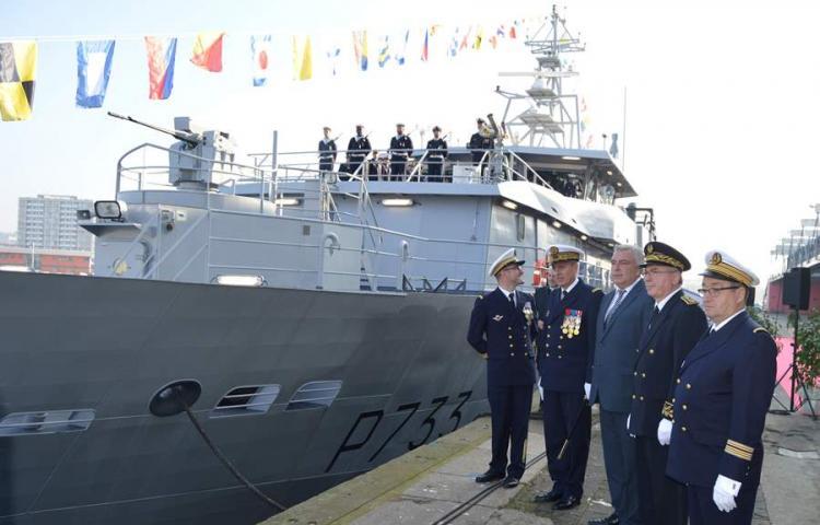 Marinha francesa incorpora o 'La Confiance', patrulheiro francês que vai fiscalizar a fronteira marítima da Guiana com o estado do Amapá