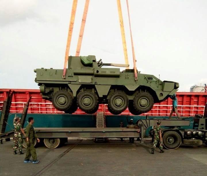 Indonésia recebe primeiro lote de veículos anfíbios BTR-4 Bucephalus da Ucrânia
