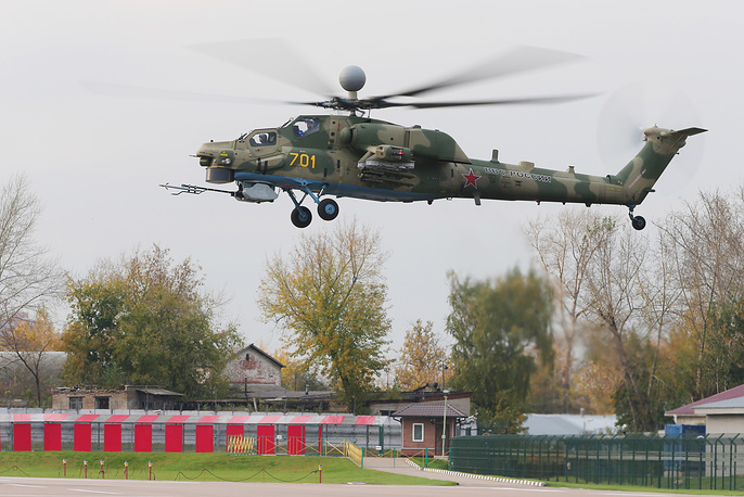 Upgraded Mil Mi-28N attack helicopter performs first flight in Moscow Region