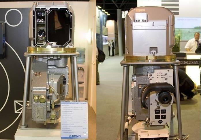 """Sistema térmico multi-canal de tiro PNM Sosna-U (Desenvolvido pela """"Peleng"""" da Bielo-Rússia e fabricado sob licença pela """"VOMZ"""" de Volgogrado) utilizado nos carros T-72B3 e T-90AM/MS."""