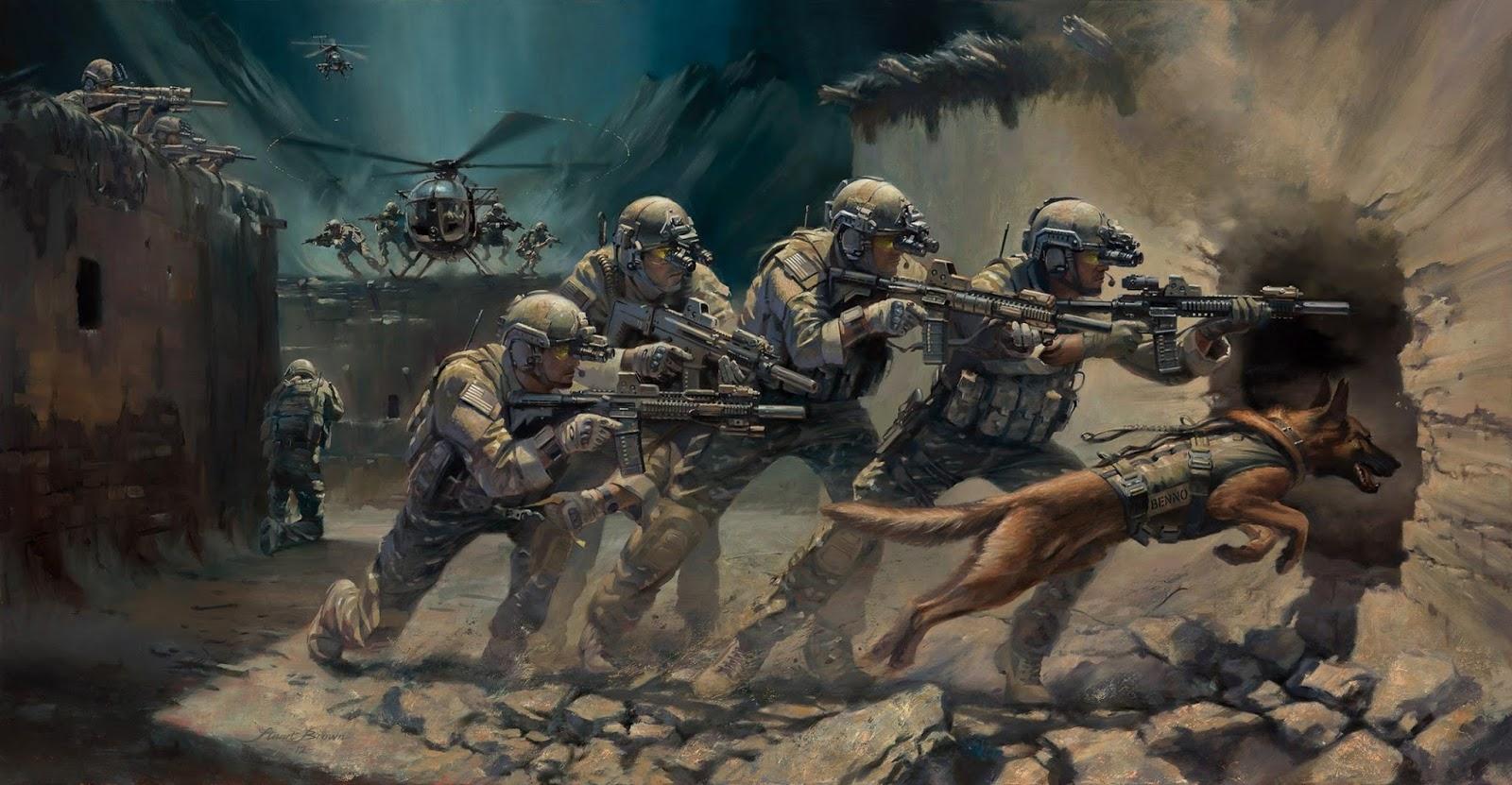 FOpEsp: Engajamento de Cães de Combate em Apoio às Operações Especiais