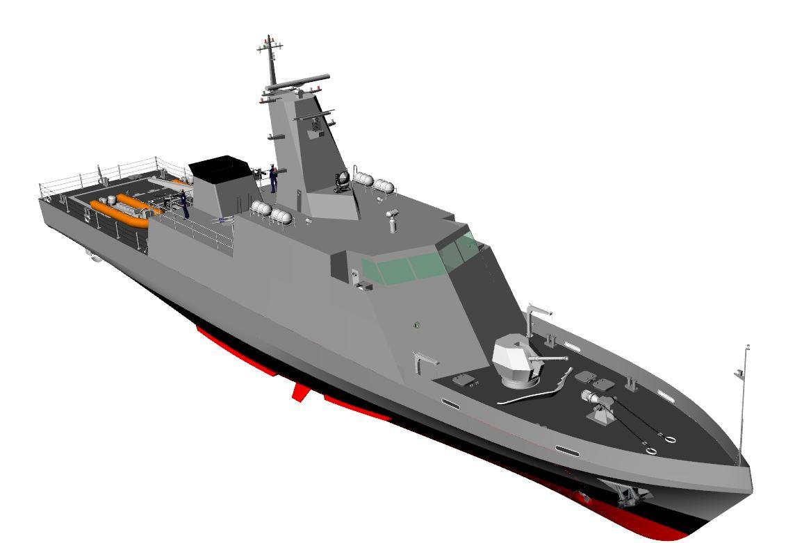 Mar de incertezas: MB já fala em abandonar programa dos classe Macaé e adotar desenho do novo NaPaCos de 500 tons., de autoria do CPN