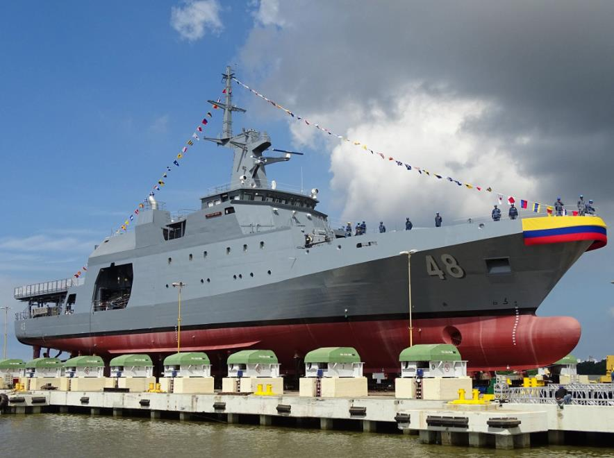 É aritmético! Com a fortuna que a MB gastará na 1ª corveta Tamandaré, a Colômbia constrói 7 patrulheiros oceânicos Fassmer 80 'improved'