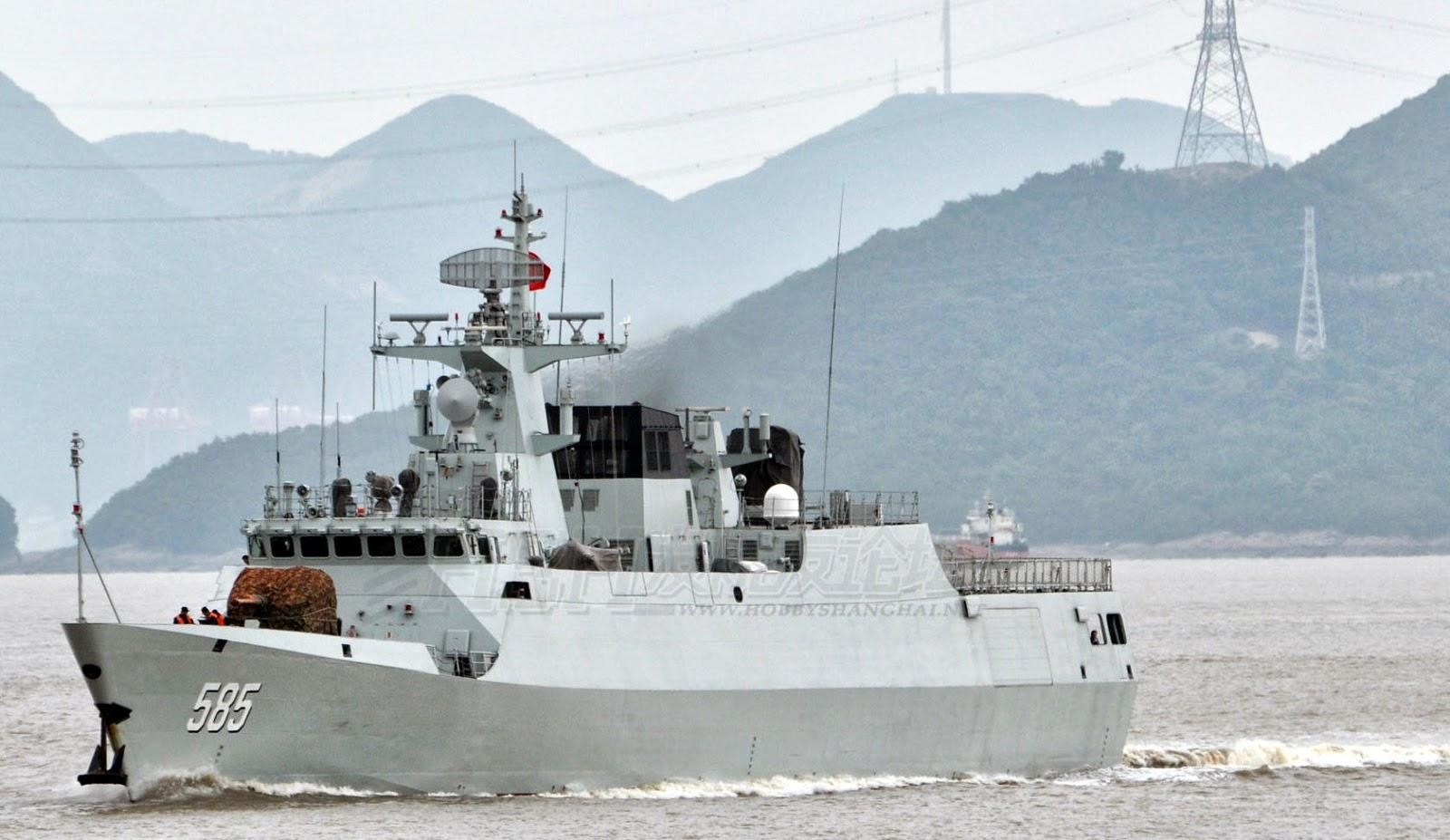 Marinha Chinesa  comissiona dois navios em janeiro de 2017.