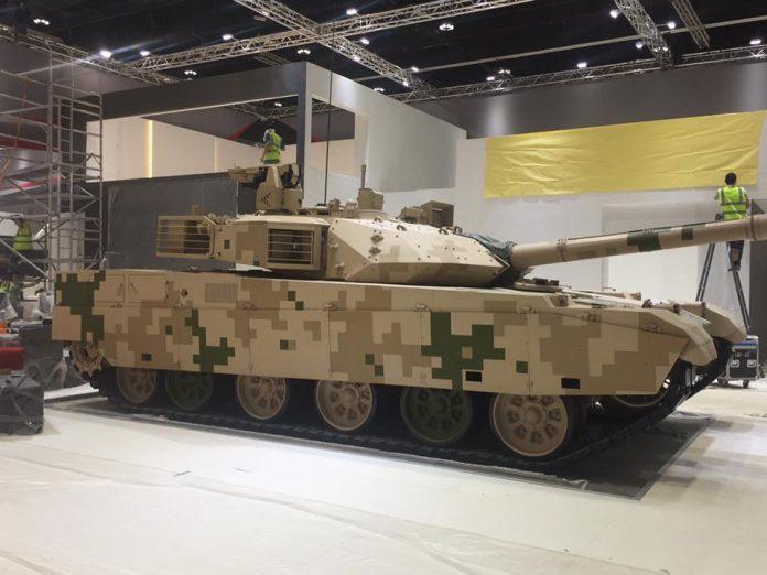 IDEX 2017: China promove seu carro de combate VT4 no Oriente Médio